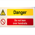 Danger Do Not Lean Over Handrail Notice Detail Page
