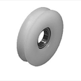 KONE - Nylon door hanger wheel( curved track) 66mm diameter. Detail Page