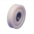 PICKERINGS - Nylon door hanger wheel- Curved track - Overall diameter 75mm / Shaft diameter 12.7mm Detail Page
