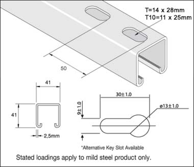 41x41x2.5 Slotted Channel 3mtr Detail Page