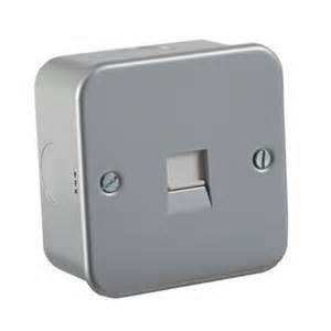 Metal Clad Secondary Telephone Socket Outlet Detail Page