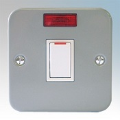 Metal Clad 20A Double Pole Switch With Neon Indicator Detail Page