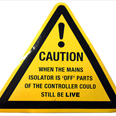 Caution Isolator Sign / Notice Detail Page
