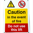 In the event of fire - Do not use this lift Detail Page