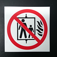 Do Not Use This Lift - Fire Warning Sign Detail Page