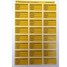 Landing Lock Inspection Labels Detail Page