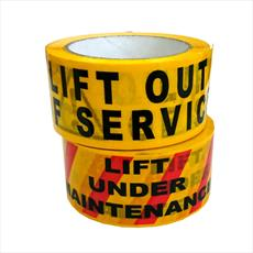 Tape - Self Adhesive Tape - Lift Out Of Service / Lift Under Maintenance Detail Page