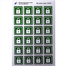 Self Adhesive Padlock Labels Detail Page