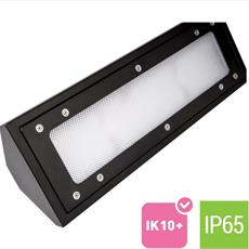 Vandal Resistant LED Light Fitting - Surface Mounted - Corner Type Detail Page