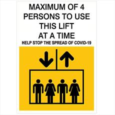 Lift Occupancy Notice - Self Adhesive Label - 1 to 6 Persons Detail Page