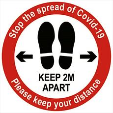 Keep 2 Metres Apart - Self Adhesive Label Detail Page