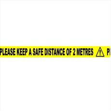 2 Metres Safe Distance Tape - Self Adhesive Detail Page