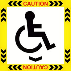 Wheel Chair - Self Adhesive Label Detail Page