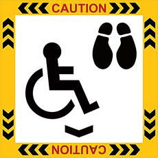 Wheel Chair Plus Person - Self Adhesive Label Detail Page