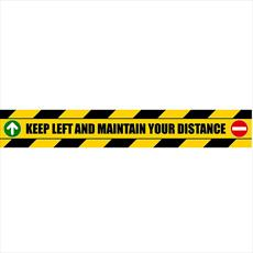 Stair Riser - Keep Left - Self Adhesive Notice Detail Page