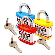 Jacket Lockout Lock With Regular Shackle - Set of 3 Detail Page