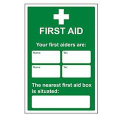 Your First Aider Safety Sign Detail Page