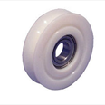 PICKERINGS - Nylon door hanger wheel - Curved track - Overall diameter 67mm / Shaft diameter 17mm Detail Page