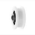 PRISMA - Nylon door hanger wheel - Flat track - Overall diameter 44mm / Roller width 17.5mm Detail Page