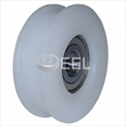 SEMATIC - Nylon door hanger wheel (Flat track) 55mm OD Detail Page